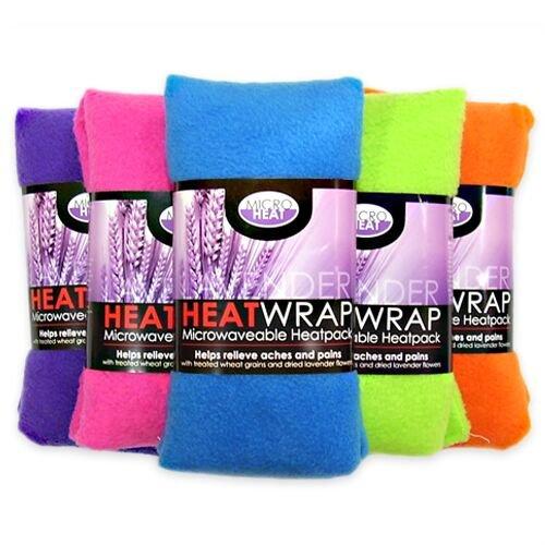 Micro Heat Microwavable Wheat and Lavender Heat Wrap, 12 cm x 40 cm