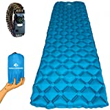 World Wonders Camping Sleeping Pad + Emergency Survival Paracord Bracelet Deal - Pad is Ultralight and Inflatable - Portable for Backpacking, Hiking, and Travel - Universal, Comfortable and Durable