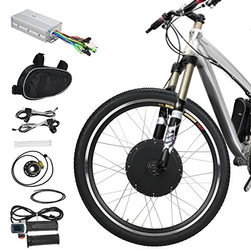 Voilamart E-Bike Conversion Kit 26″ Front Wheel 36V 500W Electric Bicycle Conversion Motor Kit with Intelligent Controller and PAS System for Road Bike