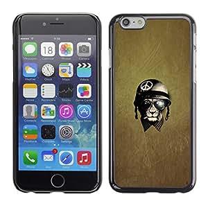 X-ray Impreso colorido protector duro espalda Funda piel de Shell para Apple iPhone 6 Plus(5.5 inches)- War Peace Veteran Warrior