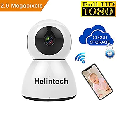 1080P Wifi Security Camera , Indoor Dome Surveillance Cams Pan / Tilt / Zoom Wireless IP camera , Remote Home Monitoring Systems, Day/Night Webcams Cloud Storage for Pet, Baby Video Monitor