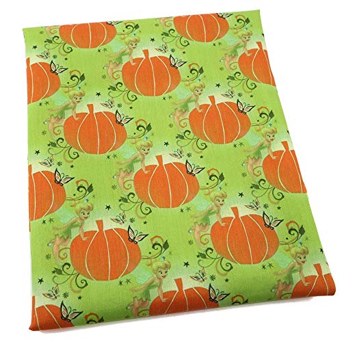 Cotton Fabric Cotton 100% 50145cm Halloween 100% Cotton Fabric Pumpkin Skull for Tissue Kids Home Textile for Sewing Tilda Doll,c4060 (Random)