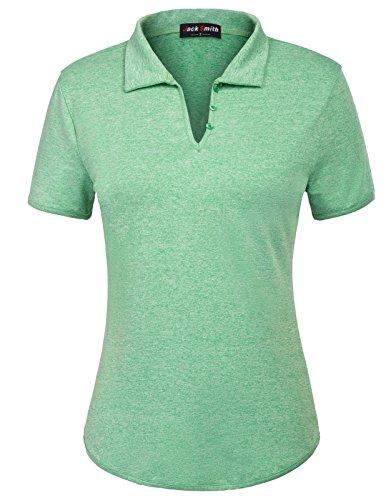JACK SMITH Polo Shirt Breathable Golf Polos for Women (XL,Green)