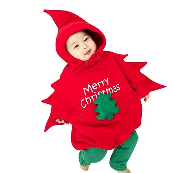 Disfraz Navidad Bebe Niña Niño Arbol de Navidad Sudadera con Capucha ...