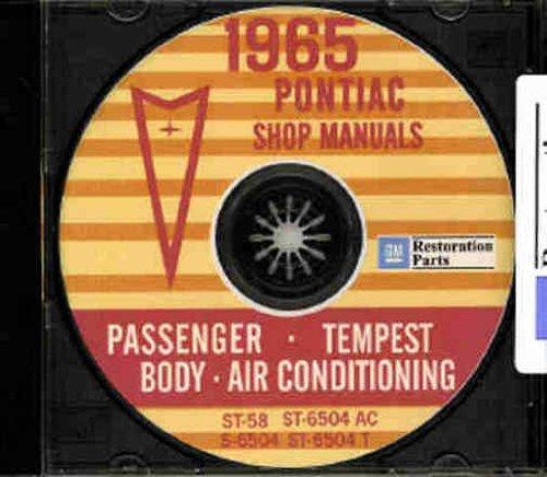 1965 PONTIAC FACTORY REPAIR SHOP & SERVICE MANUAL & FISHER BODY MANUAL CD COVERING Bonneville, Catalina, GTO, Tempest, Tempest Custom, Tempest LeMans, Executive, Grand Prix, Safari, Firebird, Sprint, H.O. & 400 Convertibles & Wagons)
