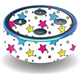 MightySkins Skin for Amazon Echo Dot (2nd Gen) - Smiley Stars | Protective, Durable, and Unique Vinyl Decal wrap Cover | Easy to Apply, Remove, and Change Styles | Made in The USA