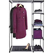 free standing closet rack. Black Bedroom Furniture Sets. Home Design Ideas