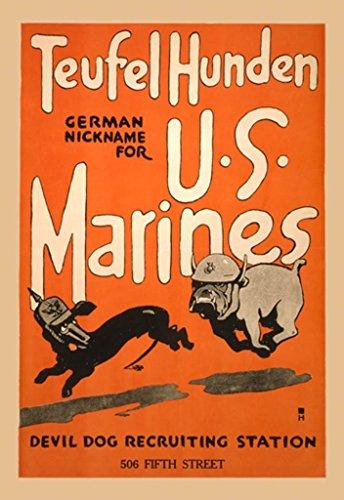 Buyenlarge Teufel Hunden German Nickname for US Marines