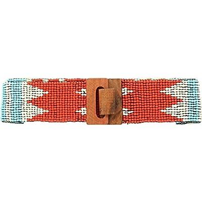 Nocona Women's Stretch Beaded Unique Pattern Belt