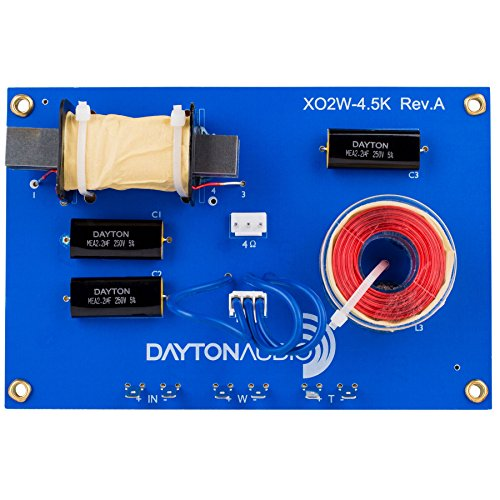 Dayton Audio XO2W-4.5K 2-Way Speaker Crossover 4,500 Hz (Dayton Crossover compare prices)