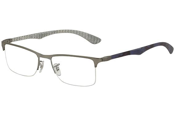 c720a38c741 Amazon.com  Ray Ban eyeglasses RX8413 2851 Carbon Fiber Purple ...