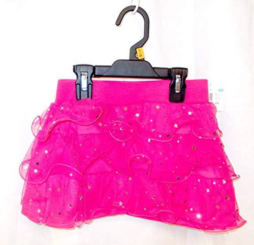 (K-mart Hot Pink Stardot Ruffled Skort Child Costume Small 6-6X)