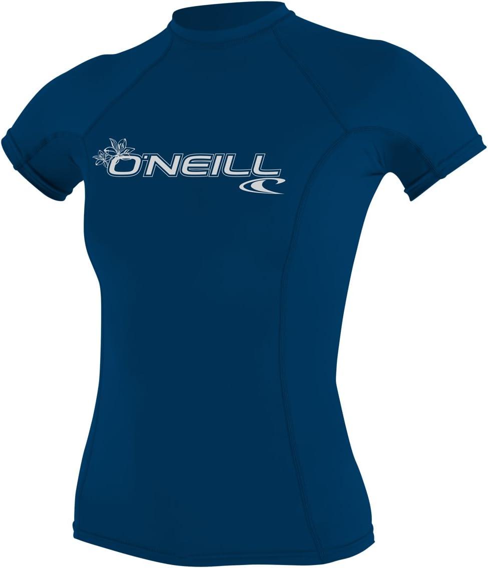 ONeill Wetsuits Womens Oneill Basic Skins UPF 50 Short Sleeve Rash Guard