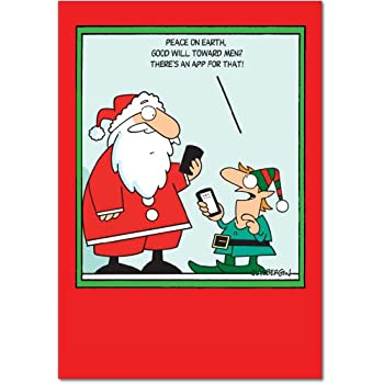 12 app for that boxed christmas hilarious greeting cards 475 x 6625 inch happy holidays note cards with envelopes for xmas new year gifts