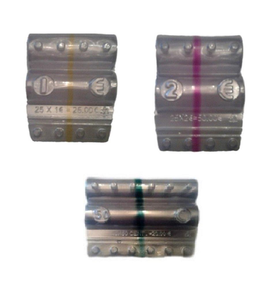 Blister per monete euro - Kit 240 blister portamonete misti da 1 euro, 2 euro e 50 centesimi Holenburg