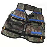 Jimmkey Children Tactical Vest Kids Thin Jacket Tactical For Nerf N-Strike Elite Series,Kids/Childrens Tactical Molle Combat Assault Vest Army/Military/Police,Tactical Vest Security Guard Waistcoat CS Field Combat Training Protective Vest (Camouflage, 47X54cm)