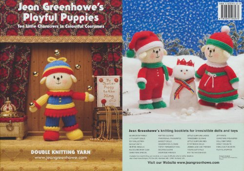 Jean Greenhowe Playful Puppies Knitting Book Double Knitting DK Colourful Toy (Supergirl Costume Pattern)