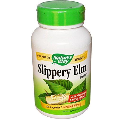 Natures Way Slippery Elm Bark, 100 ct (Slippery Elm Bark 100 Caps)