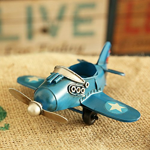 Wall of Dragon Model Home Decor Iron Plane Model Iron Aircraft Glider Biplane Pendant Airplane Figurines Status Metal Plane by Wall of Dragon (Image #1)