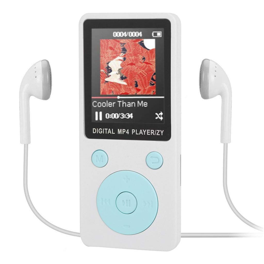Wenjuan Mp3 MP4 Player, Music Player Portable Digital Music Player/Video/Voice Record/FM Radio/E-Book Reader/Photo Viewer/1.8 TFT Color Screen (White) by Wenjuan (Image #1)