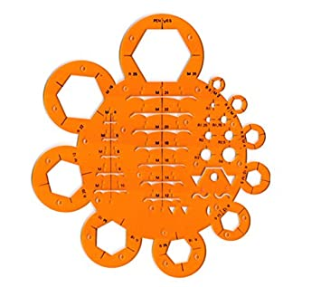 Soldadura de ingeniería tuercas tornillos tornillos símbolos dibujo plantilla de dibujo: Amazon.es: Oficina y papelería