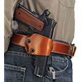 Galco Yaqui Slide Belt Holster for 1911 3-Inch-5-Inch Colt, Kimber, Para, Springfield, KAHR, Walther P22, Tan, Right Hand
