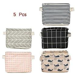 5 Pcs Foldable Storage Bin Basket,Foldab...