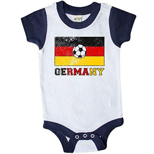 German Boy Clothes (inktastic German Soccer Infant Creeper 6 Months White and Navy 2e202)