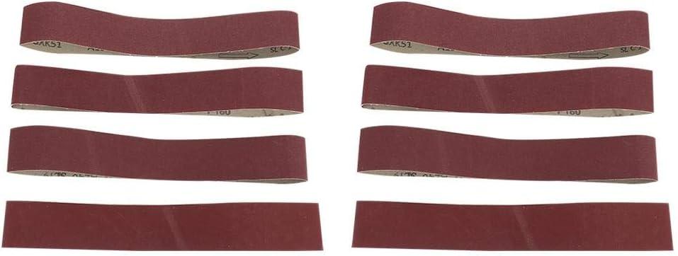 Grain 240 10pcs Ceintures de pon/çage Ponceuses /à bande P/érim/ètre 680mm Largeur 50mm Ceinture de pon/çage /à loxyde daluminium Bande abrasive pour bois,m/étal mou 150#,180#,240#,320#