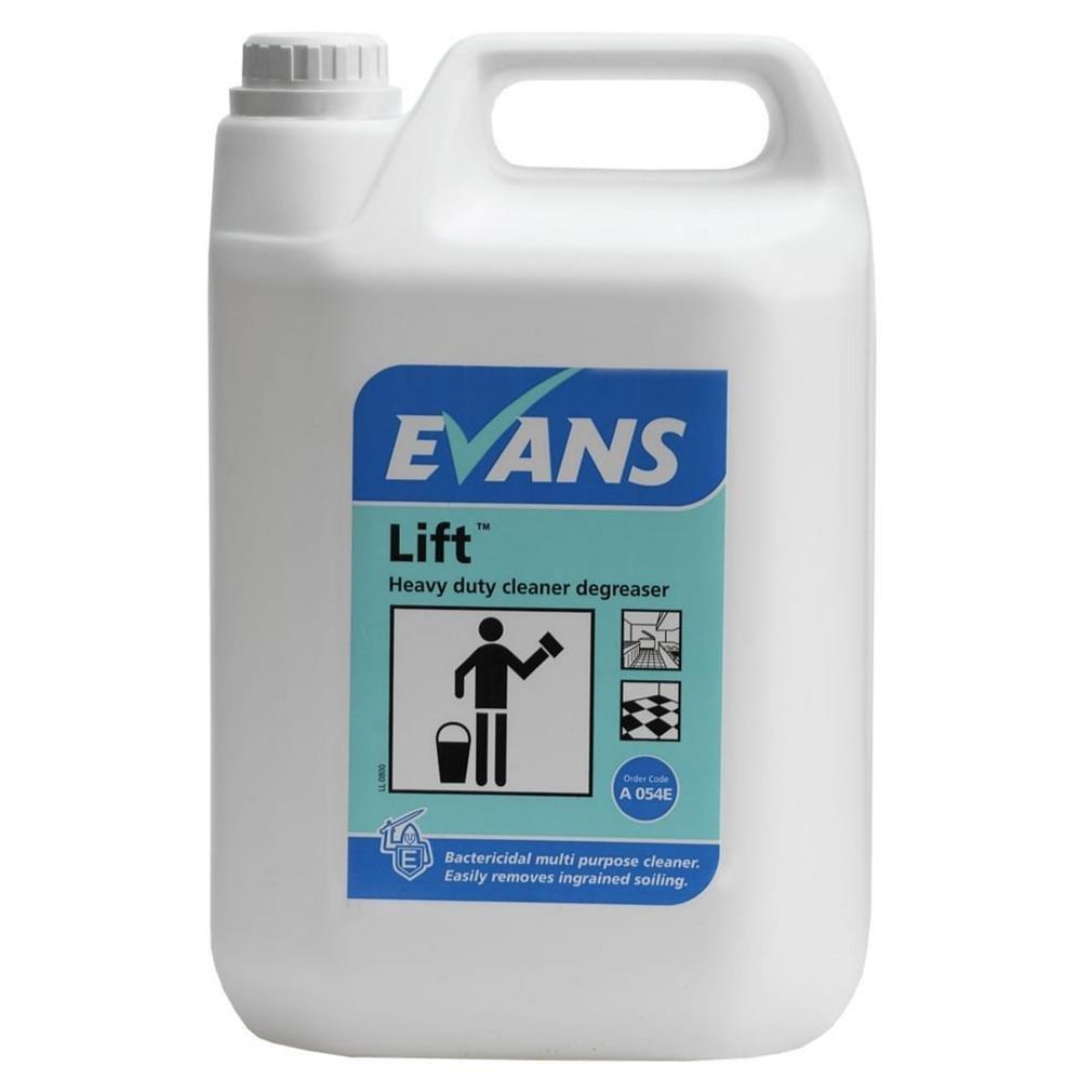 Evans Vanodine Lift, Unperfumed Heavy Duty Cleaner Degreaser, 5 L, Pack of 2 VA00574