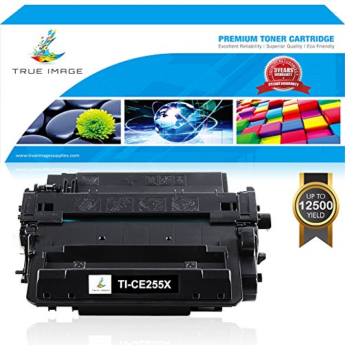 TRUE IMAGE 1Pack Compatible for HP 55X CE255X 55A Toner Cartridge for HP Laserjet P3015 M525 P3015DN P3015D Laserjet Pro 500 MFP M521 M521DN M521DW P3015X P3015N P3016 P3010 M525F M525C Printer -Black