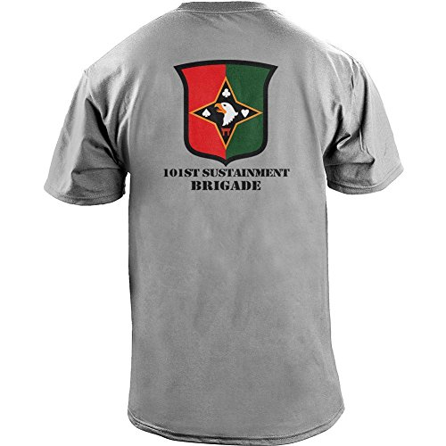 Brigade Fitted T-shirt - USAMM Army 101st Sustainment Brigade Veteran Full Color T-Shirt (XL, Heather Grey)