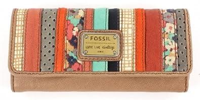 36a9e86d630dd Fossil Geldbörse EMORY Floral-Beige Damen Portemonnaies Leder Geldbeutel  Geldtasche