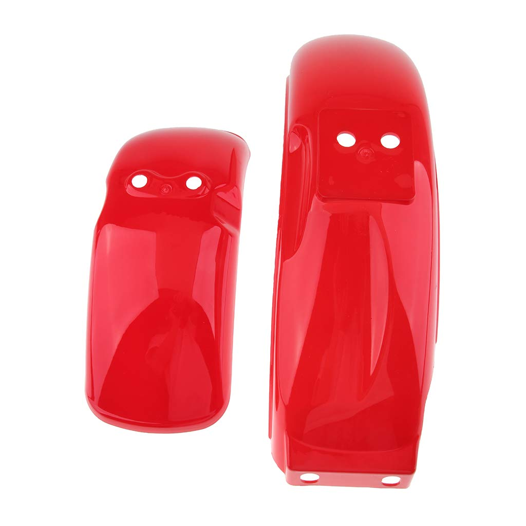 kesoto 2X Motorcycle Replacement Kit Front and Rear Fender Mudguard Mud Guard for Honda Monkey Z50 Red Z50J 8 or 10 inch Wheels Z50A