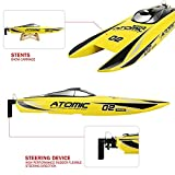 FunTech 2.4GHz High Speed RTR Electric 60KM/H+ RC Boat Remote Control Boat [Yellow or Red] - Freshwater - Pools Bathtubs Lakes