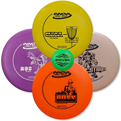 Frisbee Player (Driven Disc Golf Set - Advanced Players Pack 4 Disc Set - Innova Bundles for Intermediate to Advanced Throwers)