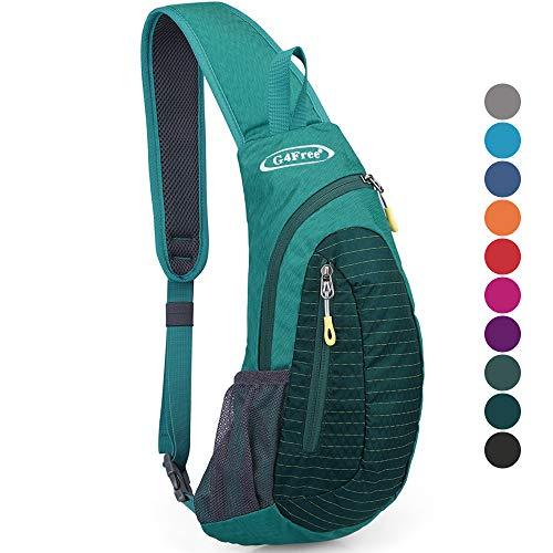 G4Free Sling Bags Men Shoulder Backpack Mini Chest Day Bag Small Cross Body. (Lake Blue)