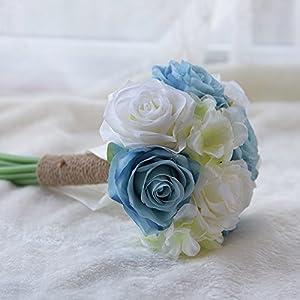 Bridal Bridesmaid Wedding Bouquet Artificial Flowers 50