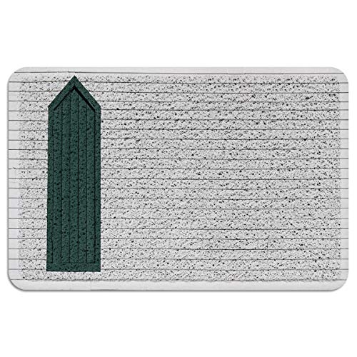 GREDAY White Wooden Board Doormat Heavy Entrance Door Mat with Non Slip PVC Backing Durable Floor Mats with Shoes Scraper for Scraping Mud, Snow, Sand in High Traffic Areas 18