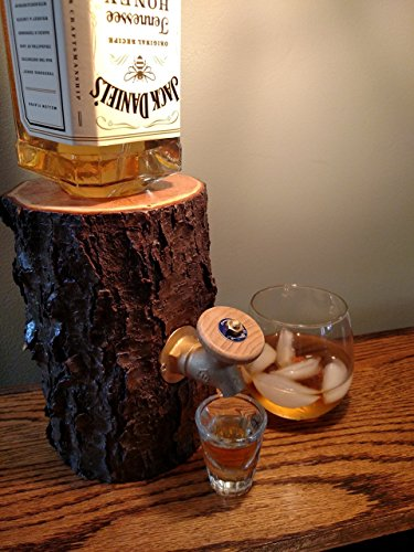 Liquor Dispenser, The Real Wood Log Liquor Dispenser - New...