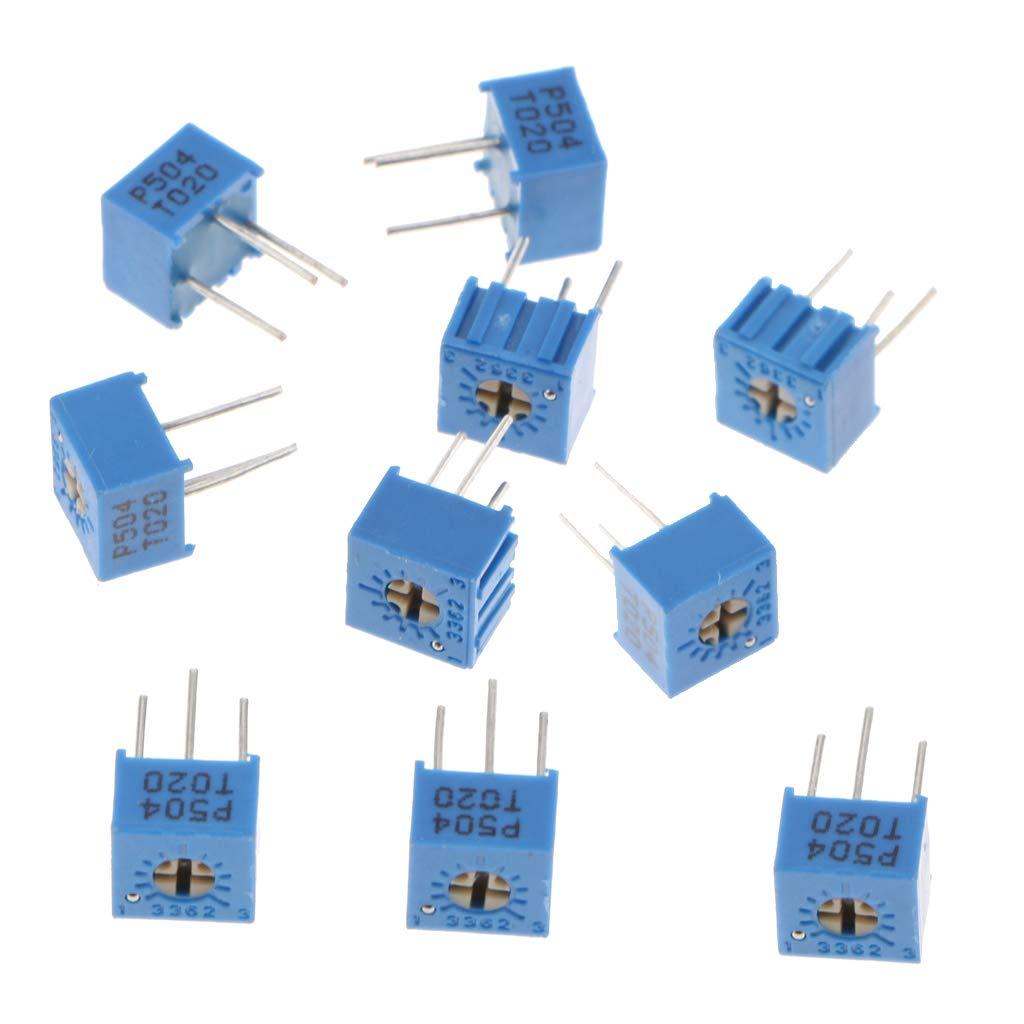 Shiwaki 20Pieces //Pack 100K /& 500K Printing 504 3362P Trim Pot Trimmer Potentiometer