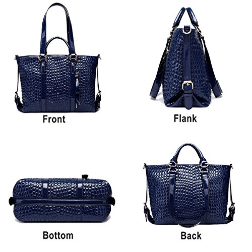 Purse Ladies Pattern Crocodile Fashion Handbag Messenger Shoulder Handbags Tisdaini Bag Business Blue UvxTqR7Twn