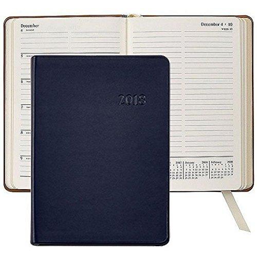 2018 Notebook Planner 7'' Navy-Blue Traditional Calfskin ...