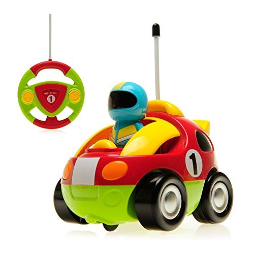 - DeXop RC Cartoon Race Car with Music Radio Control Toy Action Figure Rc Vehicle