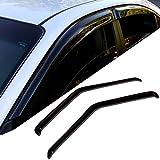 chevy camaro rain guards - TuningPros WD-060 Tinted Smoke Out-Channel Window Visor Deflector Rain Guard 2-pc Set