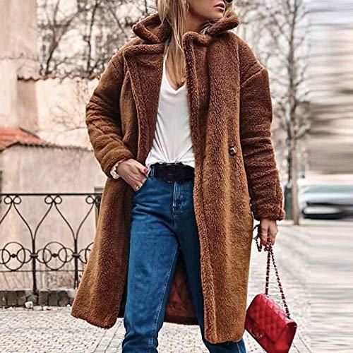 Prendas Invierno Outwear Mujeres Casual Punto Zhrui Sólido Mujer Abrigos Para Cálida Suelto Chaqueta De Abrigo Parka If80Ownq