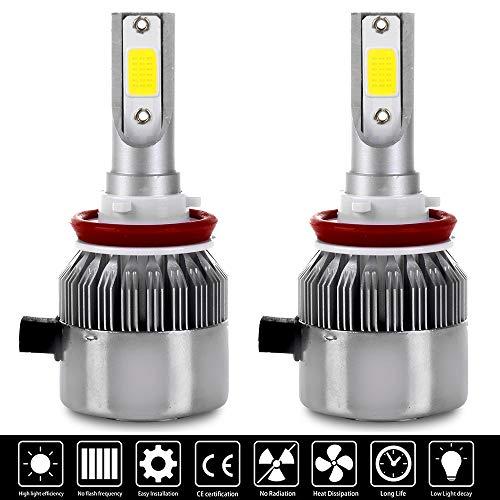 OCPTY H11/H8/H9 LED Headlight Bulb, 80W 6500K 8000LM Hi/Lo Beam Conversion Kit LED Headlamp Super Brighter - 1 Year Warranty(2pcs)