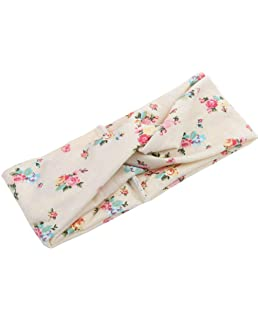 Floralby Women Yoga Floral Turban Headband Hairband Knotted Hair Accessories