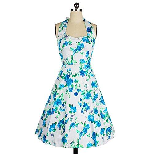 d2fac31f3aa136 ... iHAIPI - Damen Retro Vintage Kleid Abend Party 50er Jahre Stil  Rockabilly / Sommerkleid/Cocktailkleid ...