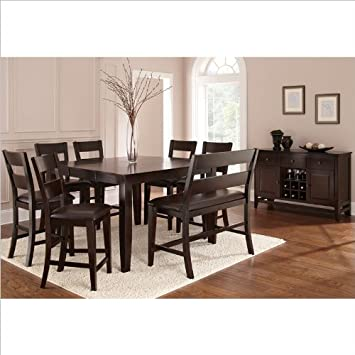 Amazon.com - Steve Silver Company Victoria 8 Piece Counter Height ...